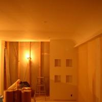 壁装飾:曲面仕上げ・間接証明・タイル貼り