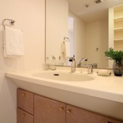 洗面化粧台:水栓金物交換・タオルリング交換